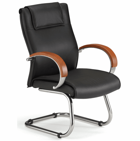 Conference Chair with Wood Accents [565-L]