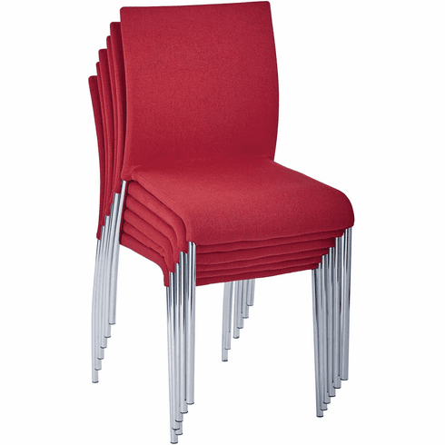 Conway Stacking Chair in Cranapple Fabric, Fully Assembled, 6-Pack [CWYAS6-CK006]