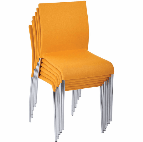 Conway Stacking Chair in Nugget Fabric, Fully Assembled, 6-Pack [CWYAS6-CK004]