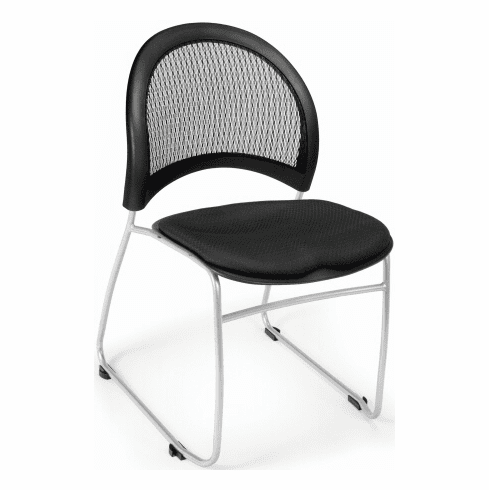 Crescent Moon Mesh Back Stacking Chairs [335]