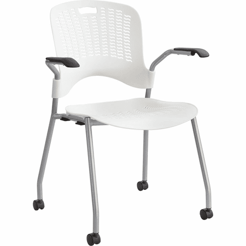 ***Discontinued*** Sassy® Stack Chair Pearl White Set of 2 [4183PE]