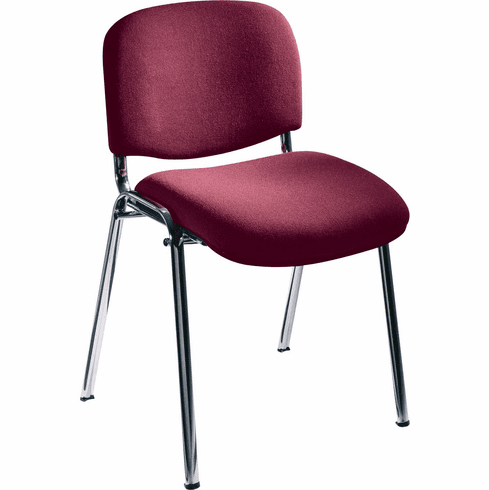 ***Discontinued*** Visit Stack Chairs Upholstered Burgundy Set of 2 [7400BG]