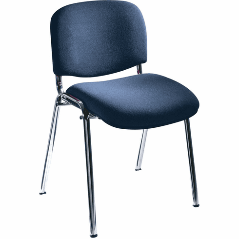 ***Discontinued*** Visit Stack Chairs Upholstered Navy Blue Set of 2 [7400NV]