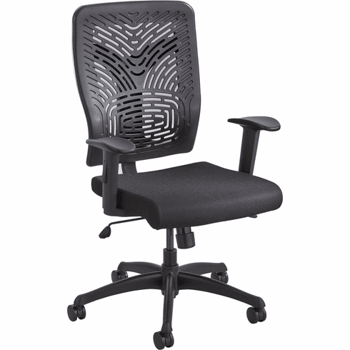 ***Discontinued*** Voice™ Series Task Chair Plastic Back Black [5085BL]