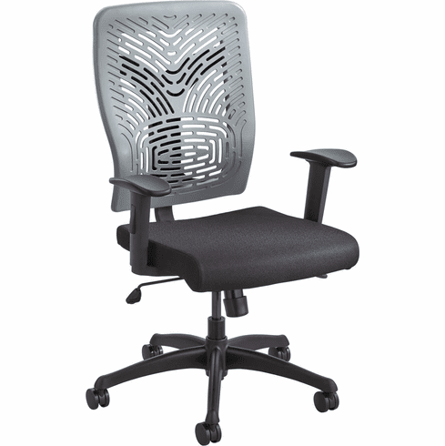 ***Discontinued*** Voice™ Series Task Chair Plastic Back Charcoal Gray [5085CH]