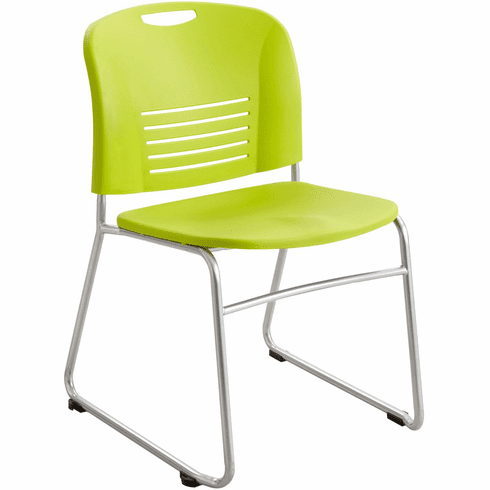 ***Discontinued*** Vy™ Stack Chair Sled Base Grass Green Set of 2 [4292GS]