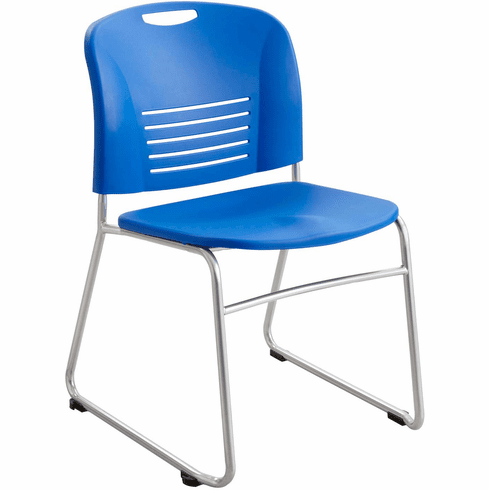 ***Discontinued*** Vy™ Stack Chair Sled Base Lapis Set of 2 [4292LA]