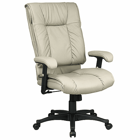 ***Discontinued*** Work Smart Multi Color High Back Leather Task Chair [EX9382]