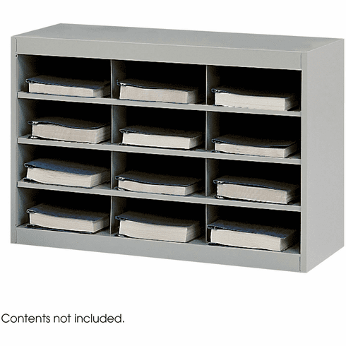 E-Z Stor® Steel Project Organizer 12 Compartments Gray [9254GR]