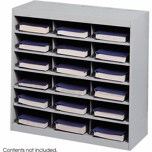 E-Z Stor® Steel Project Organizer 18 Compartments Gray [9264GR]