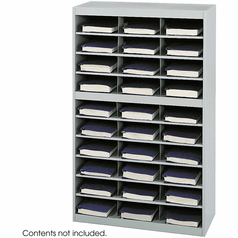 E-Z Stor® Steel Project Organizer 30 Compartments Gray [9274GR]