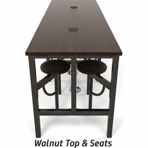 Endure Standing Height Table 8 Seats White Top [9008]