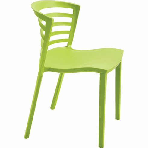 Entourage™ Stack Chair Outdoor Seating Grass Green Set of 4 [4359GS]