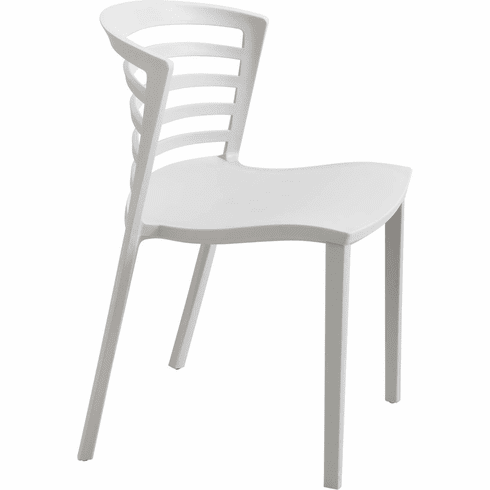 Entourage™ Stack Chair Outdoor Seating Gray Set of 4 [4359GR]