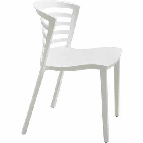 Entourage™ Stack Chair Outdoor Seating White Set of 4 [4359WH]