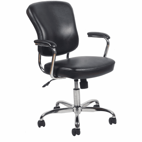 Essentials Swivel Leather Office Chair Padded Arms [ESS-6080]