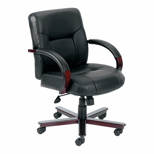 Executive Mid Back Leather Desk Chair [B8906]