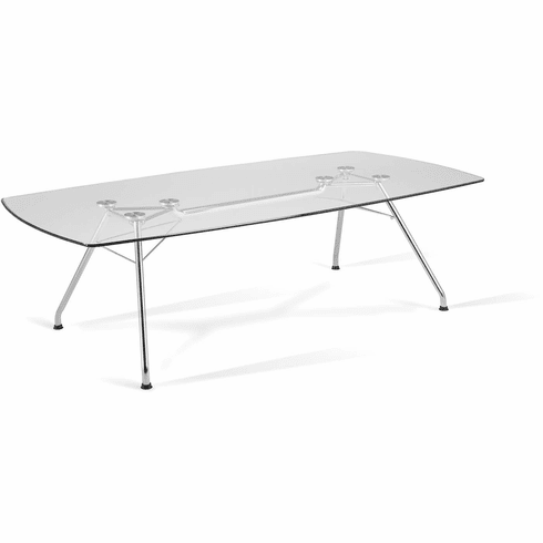Glass Conference Table 47X94 Steel Base [GT4794]