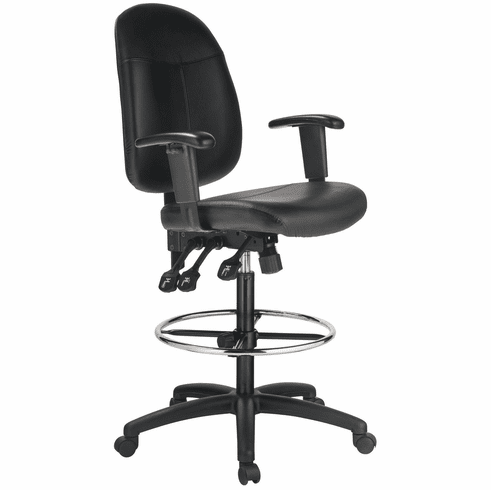 Harwick Ergonomic Leather Drafting Chair [6058C-D-L]