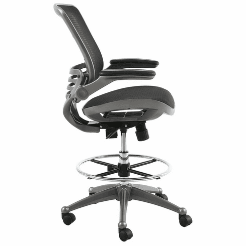 Harwick Evolve All Mesh Heavy Duty Drafting Chair - Gunmetal Finish [2250D-BK]