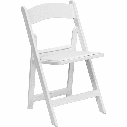 Hercules 1000 Lb Capacity White Resin Folding Chair With