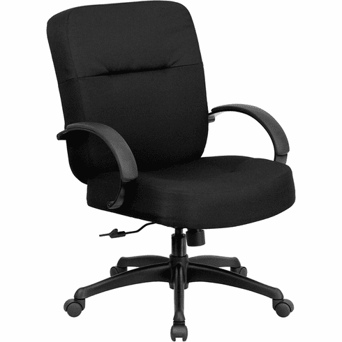 Hercules Black Fabric Big and Tall Chair [WL-723ATG-BK-GG]