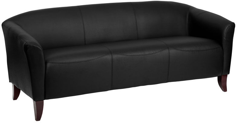 Stupendous Hercules Imperial Black Leather Sofa 111 3 Bk Gg Gmtry Best Dining Table And Chair Ideas Images Gmtryco