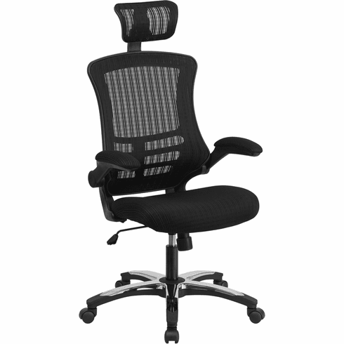 High Back Executive Office Chair With Wheels And Adjule Headrest Bl X 5h Gg