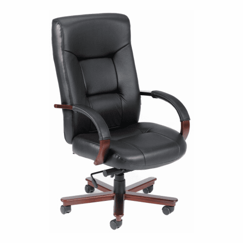 High Back Italian Leather Office Chair [B8901]