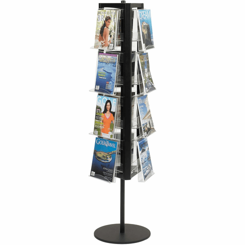 In-View™ Rotary Literature Display 12 Pocket Black [4113BL]