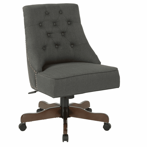 INSPIRED by Bassett Rebecca Office Chair Charcoal [BP-REBEX-K26]