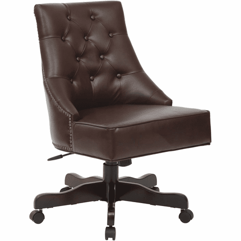 INSPIRED by Bassett Rebecca Office Chair Cocoa [BP-REBEX-BD24]