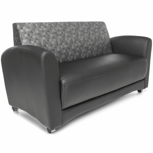 Interplay Double Chair Nickel / Black [822-NCKL-PU606]