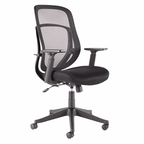 Jarius Swivel / Tilt Mesh Chair, Black [JR200MBK]