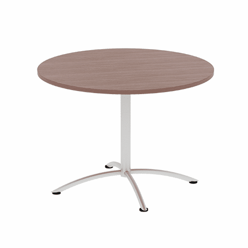 "Lancata 42""w Round Laminate Cafe / Breakroom Table, Walnut [LCRBT4230WL]"