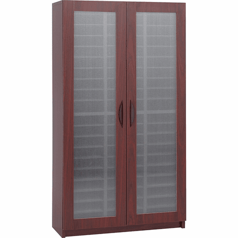 Literature Organizer with Doors 60 Compartment Mahogany [9355MH]