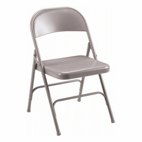 Lorell Beige Metal Folding Chairs [62500]
