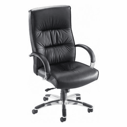 Lorell Bridgemill High Back Leather Office Chair [60502]
