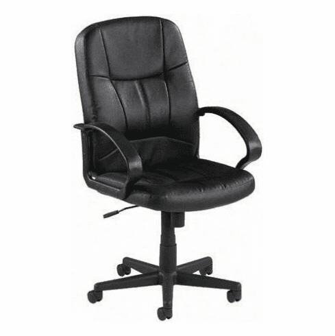Lorell Chadwick Mid Back Leather Chair [60121]