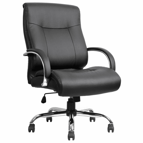 Lorell Deluxe Big and Tall Leather Office Chair [LLR40206]