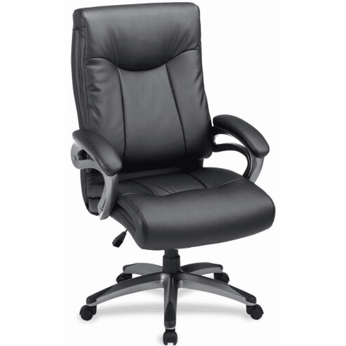 Lorell High Back Faux Leather Home Office Chair 69516