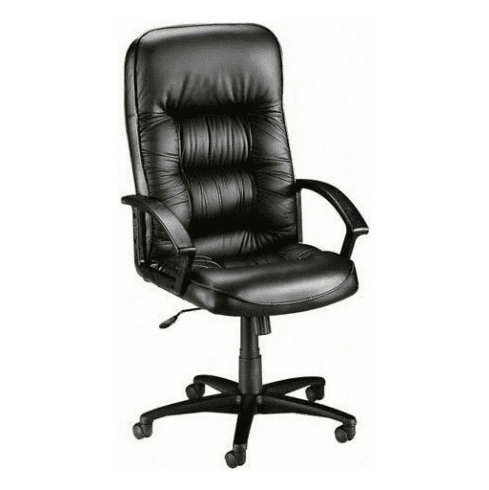 Lorell High Back Plush Leather Chair [60116]