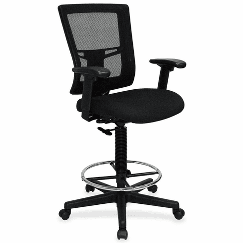 Lorell Mesh Back Drafting Chair with Chrome Footring [LLR43100]