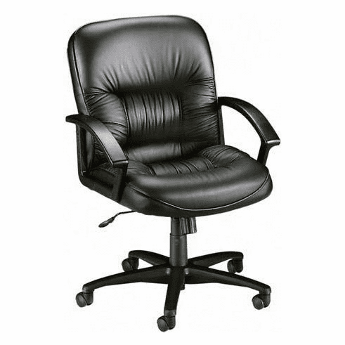 Lorell Mid Back Leather Tufted Office Chair [60115]