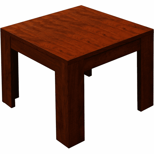 Mahogany Finish Wood End Table [N22-M]