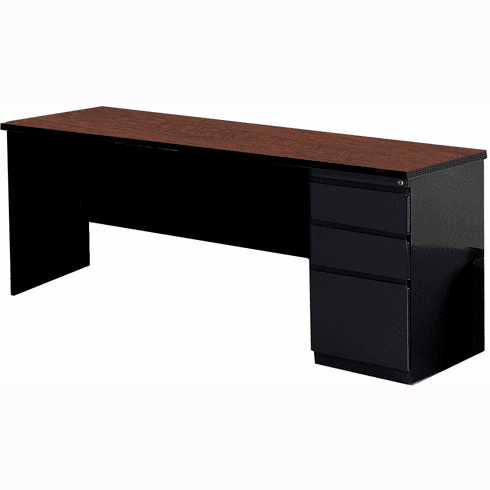 "Mayline 72""x24"" Credenza BBF Pedestal Black, Crown Cherry [C1171CCHBLK]"