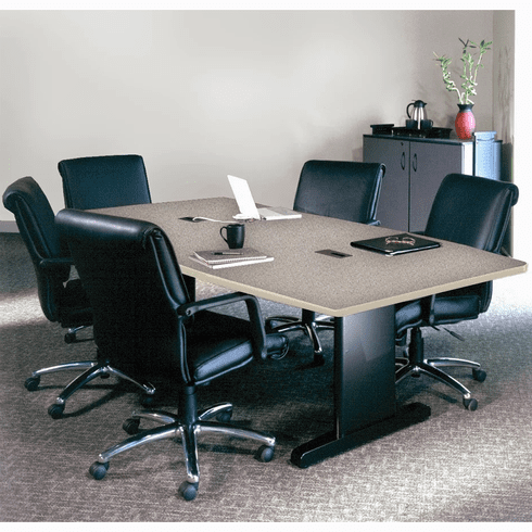 "Mayline 72""x36"" Rectangular Conference Table Gray Nebula [R73R5CGBLK]"