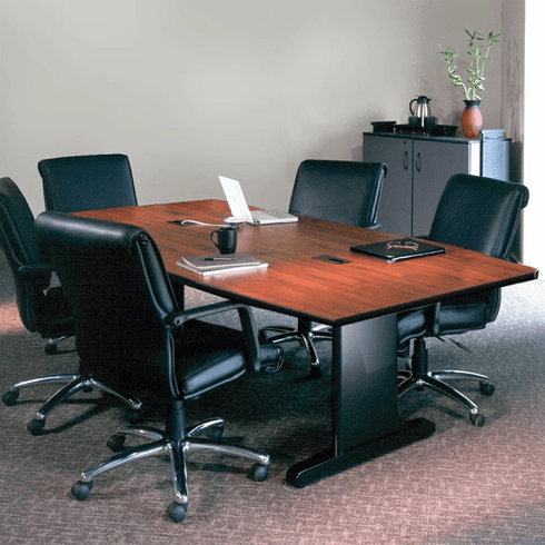 """Mayline 72""""x36"""" Rectangular Conference Table Windsor Mahogany [R73R5DXBLK]"""