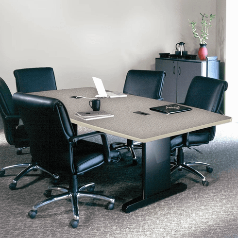 "Mayline 84""x42"" Rectangular Conference Table Gray Nebula [R84R5CGBLK]"