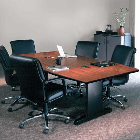 "Mayline 84""x42"" Rectangular Conference Table Windsor Mahogany [R84R5DXBLK]"